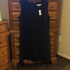Black Loft dress with scallop neck line